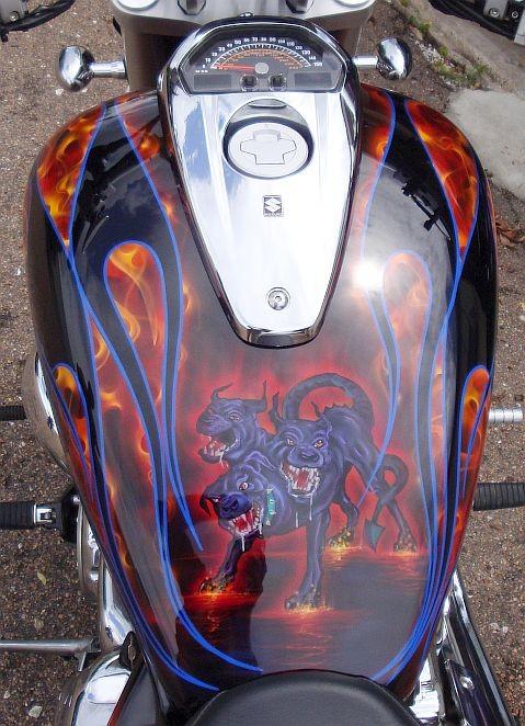 Custom Motorcycle Tank Paint